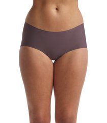 women's commando butter seamless hipster panties, size large - brown
