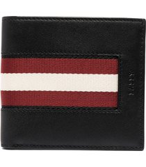 bally tape leather bi-fold wallet - black