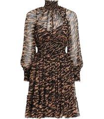 wavelength shirred mini dress in sumatran stripe