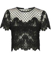 jane top blouses short-sleeved zwart ida sjöstedt