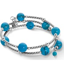 american west turquoise coil bracelet in sterling silver