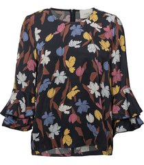 nina blouse blouse lange mouwen blauw just female