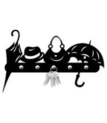 porta chaves objetos love decor preto