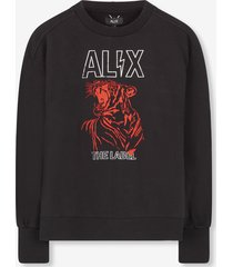 alix sweater print zwart