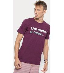 camiseta redley silk um metro e meio masculina