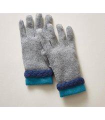 sundance catalog women's valentina cashmere gloves in gray
