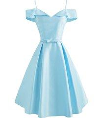 cami foldover belted cold shoulder dress