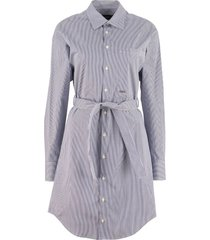 dsquared2 belted cotton shirtdress