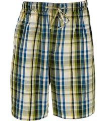 schiesser pyjama bermuda groen ruit