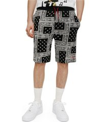 elevenparis men's knit all over print shorts