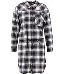 garcia zachte blouse jurk flannel dark navy
