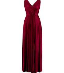 sukienka aksamitna z rozcięciem
