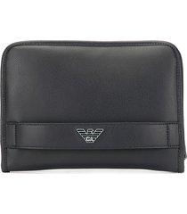 emporio armani hand strap wallet - blue