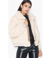 sixth june sherpa short jacket faux fur