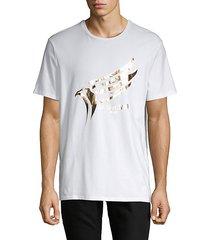 foiled eagle logo graphic t-shirt