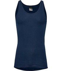 singlet t-shirts sleeveless blå schiesser