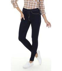 calã§a skinny jeans lavagem escura - azul - feminino - dafiti