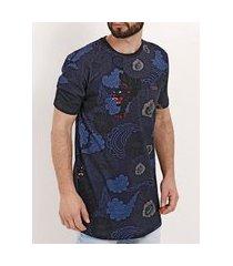 camiseta manga curta masculina nicoboco azul marinho