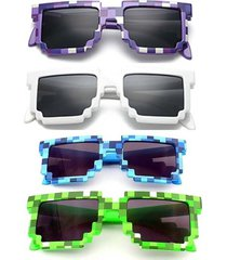 sunglasses kids cosplay action game toys minecraft square glasses boys accs