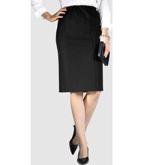 kjol i stretchmaterial m. collection svart