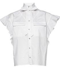 linora blouses short-sleeved vit custommade