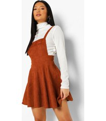petite corduroy pinafore jurk, rust