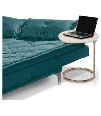 mesa de apoio regulável para sala cobre off white casah