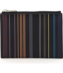 paul smith stripe card holder pouch