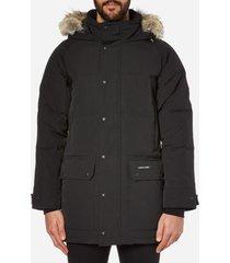 canada goose men's emroy parka jacket - black - s - black