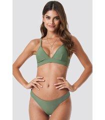 na-kd swimwear basic bikini panty - green