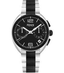 fendi men's momento two-tone stainless steel bracelet watch