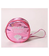 "bolsa infantil metalizada mermaid squad"" pink"""