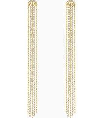 orecchini tassell fit, bianco, placcato oro