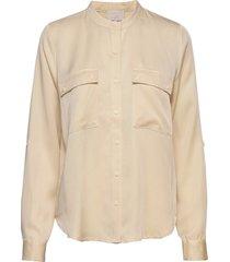 emissa shirt blouse lange mouwen beige minus