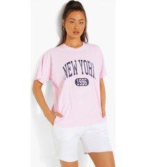 oversized overdye new york t-shirt, light pink