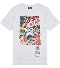 converse camiseta collage graphic white