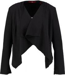 s. oliver zwarte korte blouse blazer