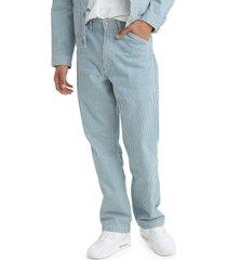 men's levi's men's stay loose carpenter pants, size 31 - blue