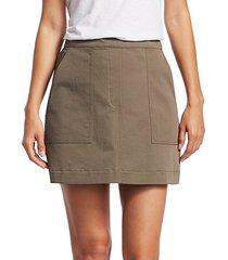 stitched pocket a-line skirt