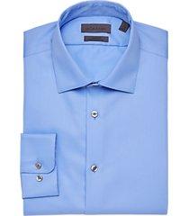 calvin klein infinite non iron modern fit light blue stretch dress shirt
