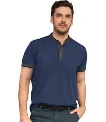 masculino exterior camiseta azul leonisa m2667s