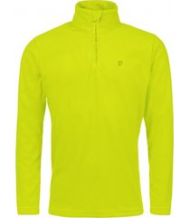protest skipully men perfecty 1/4 zip top lime green-xs