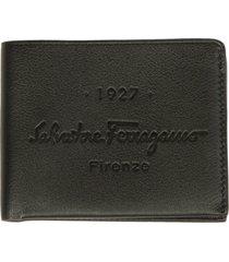 salvatore ferragamo engraved logo bifold wallet