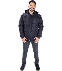 jaqueta carbella casaco impermeável acolchoado capuz removível preto