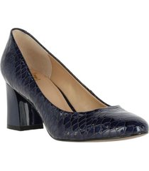 zapato leather clarice azul oscuro hush puppies
