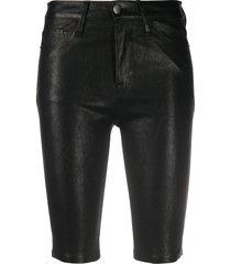 frame matte fitted shorts - black