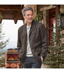 grizzly men's johnny travel coat by sundance in tobacco medium