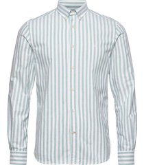 giles button down shirt skjorta casual grön morris