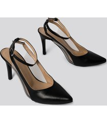 trendyol transparent detailed pumps - black