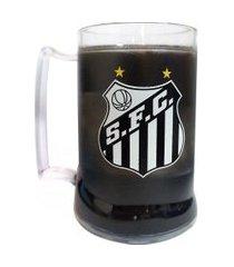 caneca gel santos preta escudo